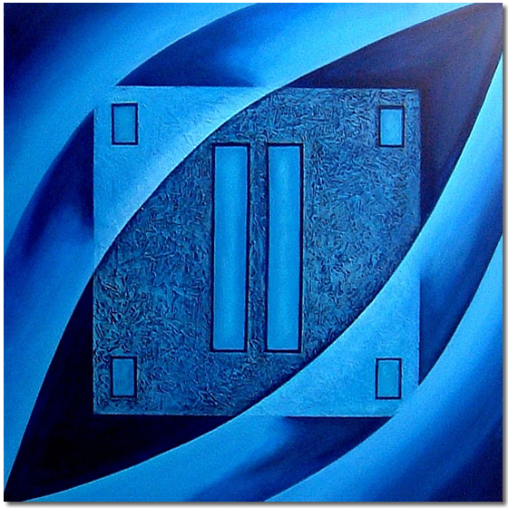 Photo of Blue Forms, Painting by Elin Bjorsvik - visual artist, London, UK