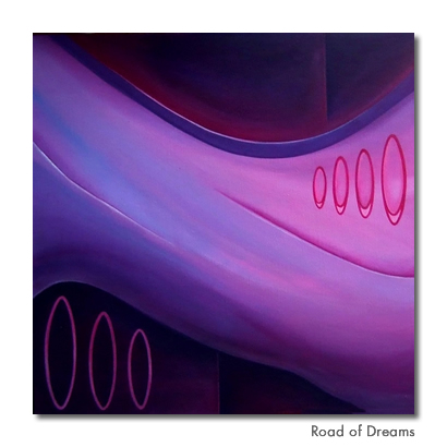 Road of Dreams - Original painting for sale