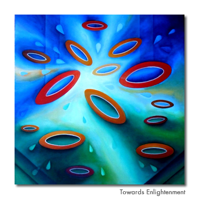 Towards Enlightenment - Original painting for sale