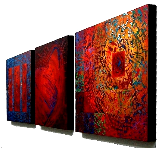 Collection of Elin's abstract paintings